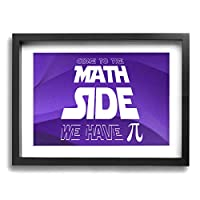 Classic Math Wall Art Decor Poster Artworks Paintings Print Artwork Framed For Living Room Bedroom Bathroom 16x12Inch
