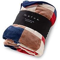 mofua ( モフア ) 掛け布団カバー 布団を包める ぬくぬく 毛布 シングル チェック柄 レッド 402501C8