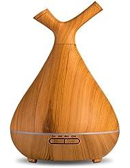 アロマセラピーアトマイザー空気清浄機超静かな木目アロマテラピー機の加湿器ミニオフィスの家の車,A
