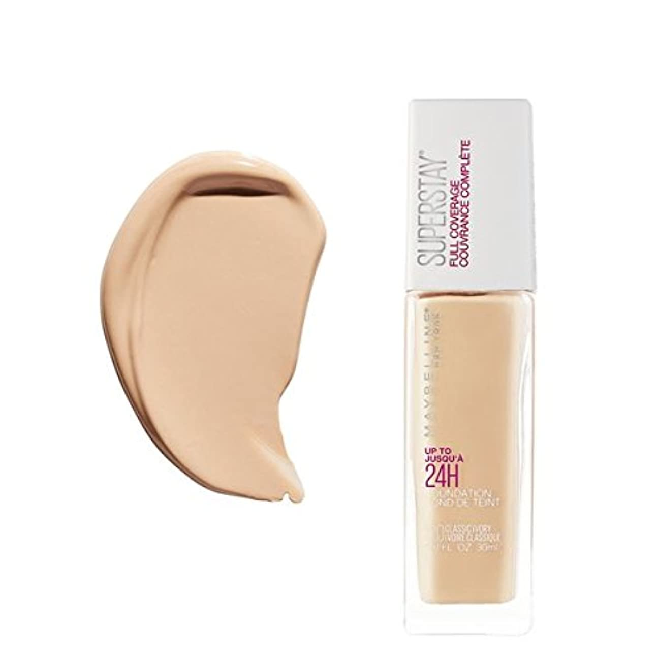 無心スイ健康的(6 Pack) MAYBELLINE Superstay Full Coverage Foundation - Classic Ivory 120 (並行輸入品)