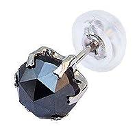 真珠の杜 メンズ ピアス 片耳用 ブラックダイヤモンド 1.00ct PT900 プラチナ