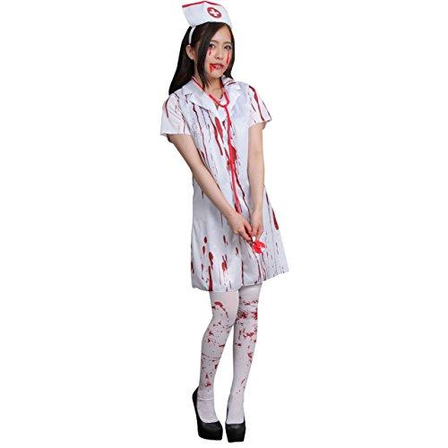 Negesu(ネグエス) ゾンビ ナース コスチューム 看護師 ハロウィン コスプレ 仮装