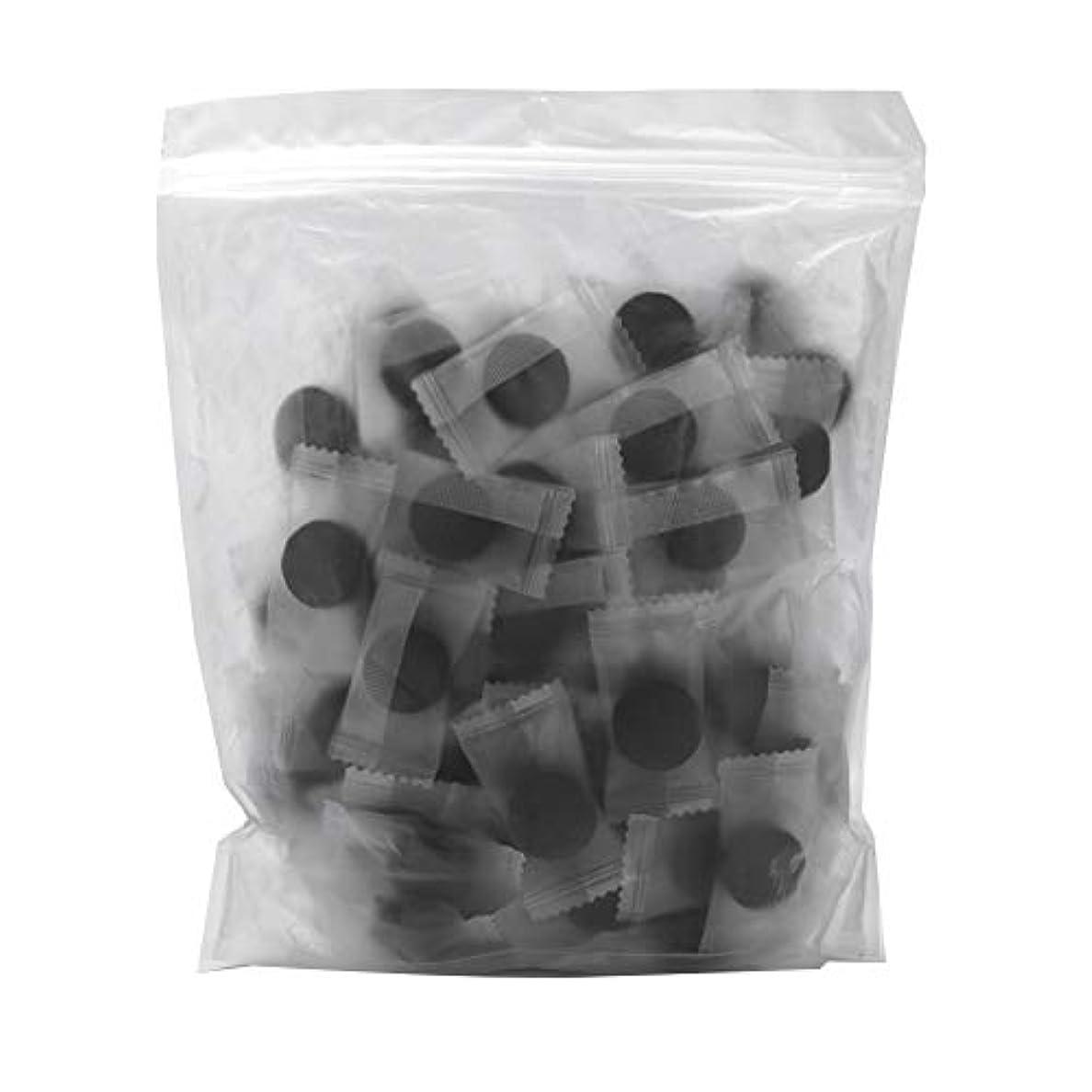 振りかける固める真空竹炭繊維 100ピース 圧縮フェースマスク 紙DIY スキンケア diy フェイシャルマスク