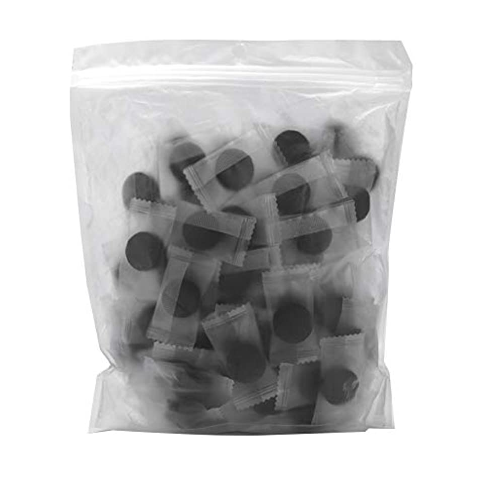 おびえたキャロライン裁量竹炭繊維 100ピース 圧縮フェースマスク 紙DIY スキンケア diy フェイシャルマスク