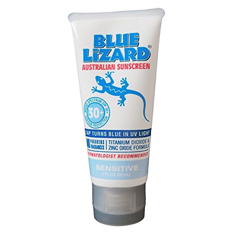 爆風銀冷淡なBlue Lizard Australian Sunscreen SPF 30+ Sensitive- 3液量オンス、2パック