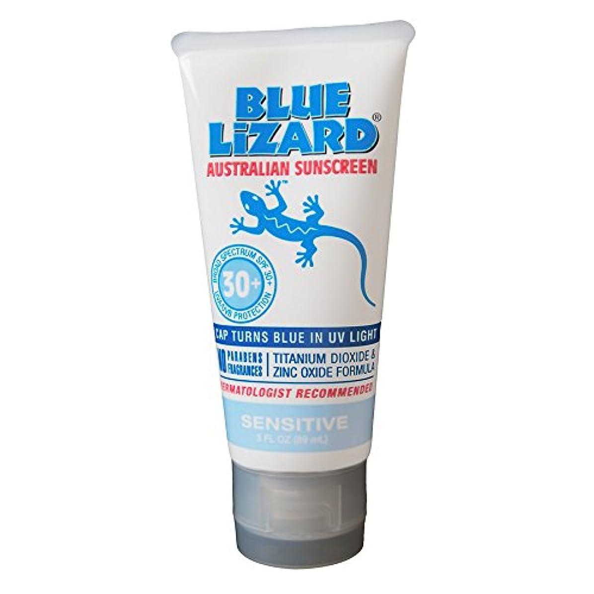 枯渇従うあるBlue Lizard Australian Sunscreen SPF 30+ Sensitive- 3液量オンス、2パック
