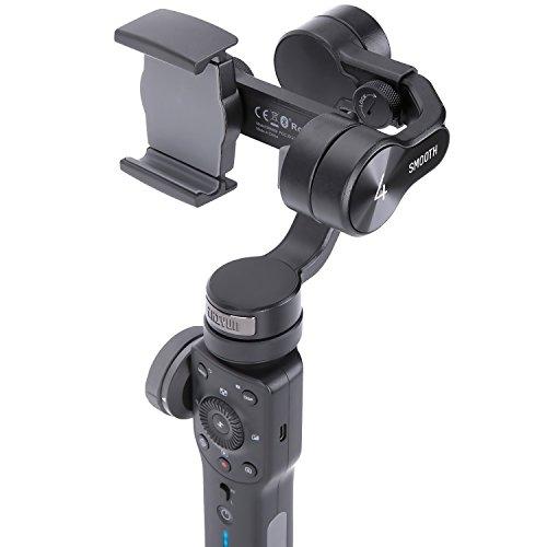 ZHIYUN Smooth 4 スマートフォン用3軸手持ちジンバル スタビライザー 3軸 スマホ 電子制御 垂直&水平撮影 手ブレ防止 iPhone/Android対応 日本語取説付属 (ブラック)