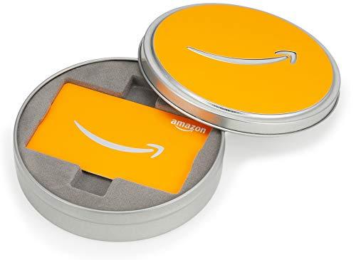 Amazonギフト券 ボックスタイプ - バリアブル(シルバー缶・オレンジ)
