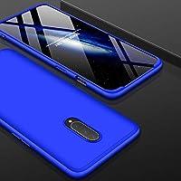 保護する LJJ三段OnePlus 7のためのスプライシングフルカバレッジPCケース(ブラック) スタイリッシュで耐久性のある (色 : Blue)