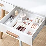 Chris.W Clear Plastic Drawer Organizer Tray for Vanity Cabinet, Set of 5 Storage Tray for Makeup, Kitchen Utensils, Jewelries