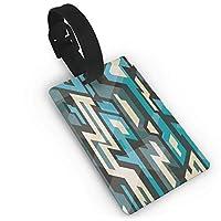 YELCEA Future Stripes Of Blue Vertical Stripes PVC Luggage Tags Travel ID Baggage Bag Labels荷物タグ、旅行に欠かせない、バッグのラベル