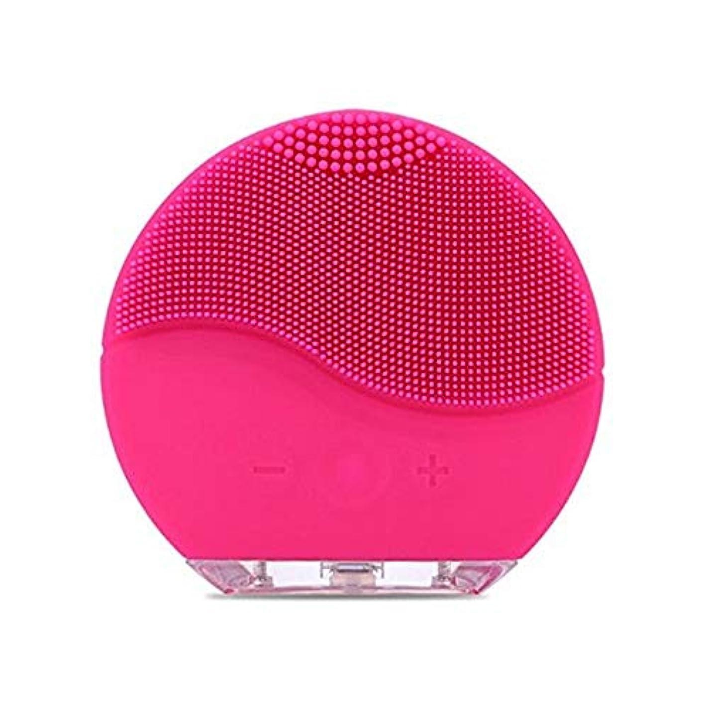 尊敬平和な水っぽいSimg 電動 洗顔器 ブラシ 自動泡たて 音波洗顔 ボディブラシ 洗顔とマッサージ両立 無接点充電式毛穴ケア フェイスマッサージ洗顔器 IPX7防水 シリコン製 (ローズレッド)