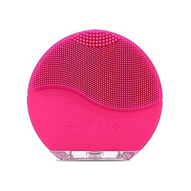 にリーフレット気まぐれなSimg 電動 洗顔器 ブラシ 自動泡たて 音波洗顔 ボディブラシ 洗顔とマッサージ両立 無接点充電式毛穴ケア フェイスマッサージ洗顔器 IPX7防水 シリコン製 (ローズレッド)