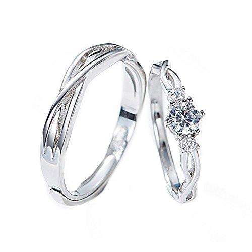 [해외]imeetu 페어링 반지 925 3A 지르콘 사랑의 맹세 커플 레이디스 맨즈 발렌타인 데이 | 생일 | 기념일 선물 결혼 웨딩 전용 box있는 프리 사이즈/imeetu ring pairing ring 925 3A zircon love couple ladies` man`s valentine`s day | birthday | ann...