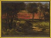 フレーム Gustave Courbet ジクレープリント キャンバス 印刷 複製画 絵画 ポスター(ブルターニュブレトン) #XLK