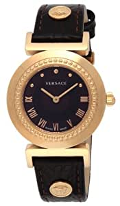 [ヴェルサーチ]VERSACE 腕時計 VANITY ブラウン文字盤 ステンレス(PGPVD)ケース カーフ革ベルト P5Q80D598S497 レディース 【並行輸入品】