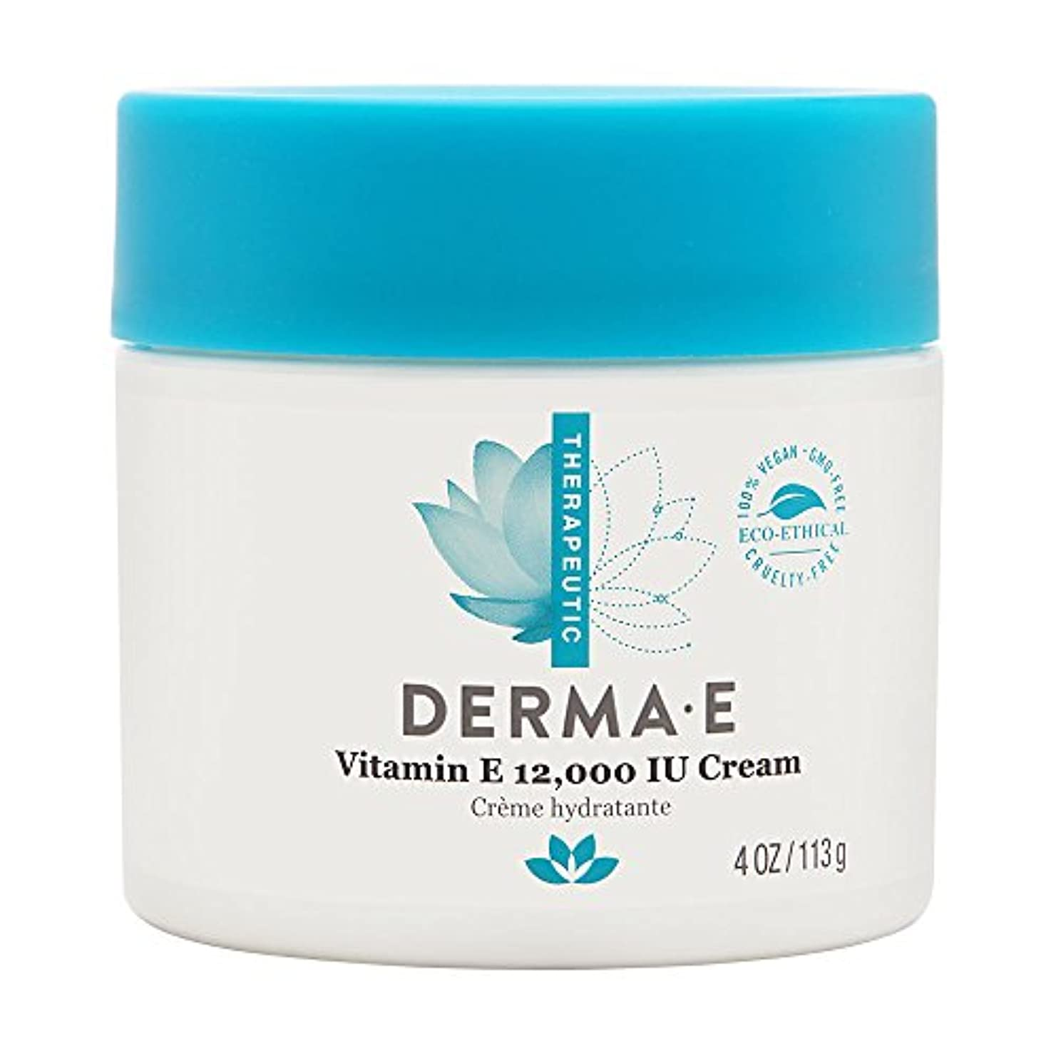 Derma E Therapeutic Vitamin E 12,000 IU Cream 113g/4oz並行輸入品