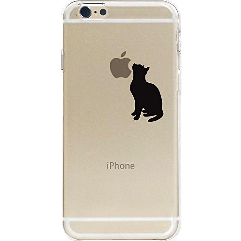 フロント強制的正確otas 5.5インチ対応(iPhone6s Plus/6Plus) カバー ハードケース ポリカーボネイト クリア 見上げる猫 888-36951