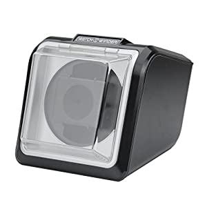 [ウォッチワインダー]Watch winder 信頼のマブチモーター シングルタイプ WATCH WINDER KA078-015 S 黒