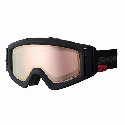 【国産ブランド】SWANS(スワンズ) スキー スノーボード ゴーグル 眼鏡使用可 ファン付 偏光 ミラー ヘリ HELI-MPDTBS-N MBK マットブラック