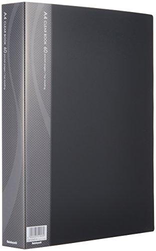 ナカバヤシ A4クリアブック クリアファイル 60ポケット ブラック CB1034D-N