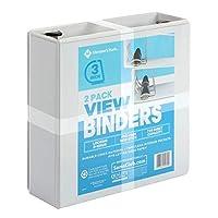 "Member's Mark 3"" D-Ring View Binder, White (2 pk.) [並行輸入品]"