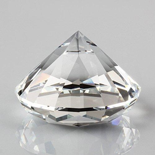 クリスタル ガラス ダイヤモンド  クリア 直径60mm 装飾用品  書道の文鎮に使用でき ダイヤモンド型