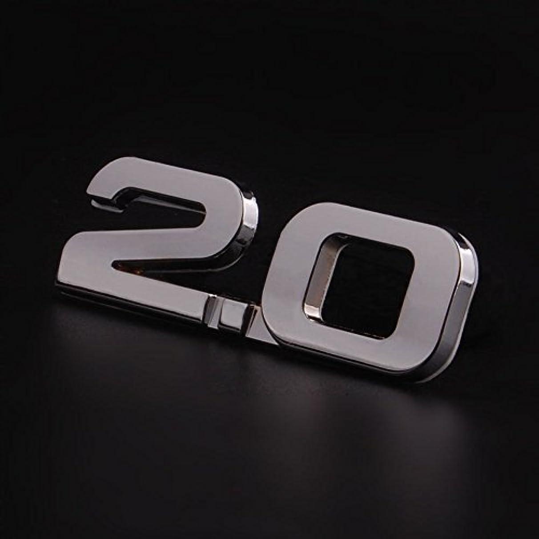 バッジ希少性トレッドJicorzo - 3D Car Auto Metal Silver 2.0 2.0T 2.0TSI Rear Trunk Decal Emblem Badge Styling Sticker