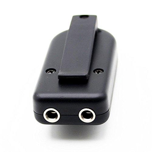 Gressu(TM)KQ-2オーディオケーブルステッカーボリューム・コントローラー・チューナー付きピエゾ連絡ギターバイオリンバンジョーマンドリンウクレレピックアップトランスデューサ
