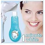歯 美白 - Delaman 歯 ホワイトニング、ナノ、歯の汚れ、コーヒーの汚れを取り除く、歯 ケア、1つ ハンドル+2つクリーニングストリップ