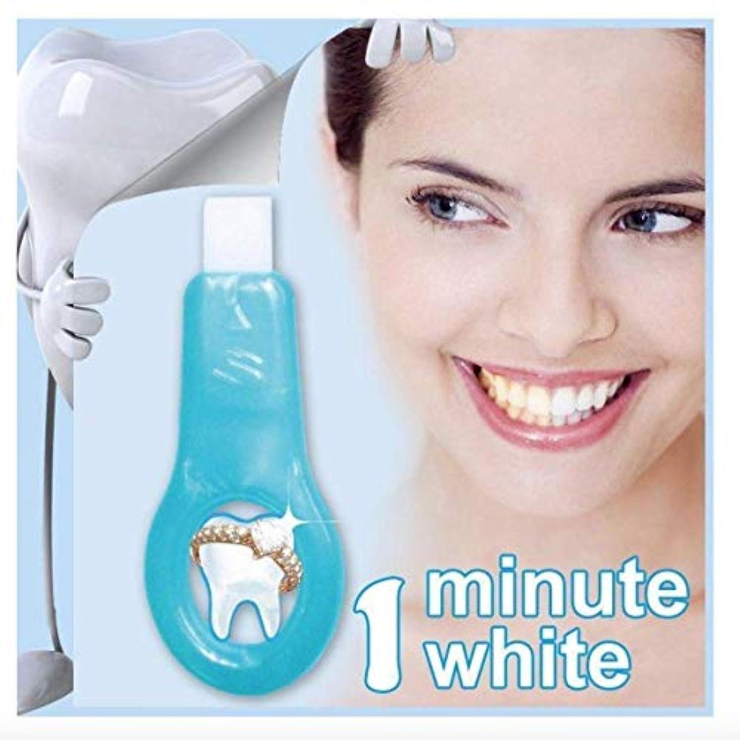 のぞき穴契約したインテリア歯 美白 - Delaman 歯 ホワイトニング、ナノ、歯の汚れ、コーヒーの汚れを取り除く、歯 ケア、1つ ハンドル+2つクリーニングストリップ