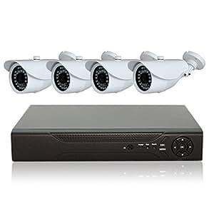 防犯カメラセット 監視カメラ 248万画素 AHD 防犯カメラ4台+AHD録画対応 1TB HDDレコーダー セット 屋外 防水 暗視 遠隔監視 HD ハイビジョン