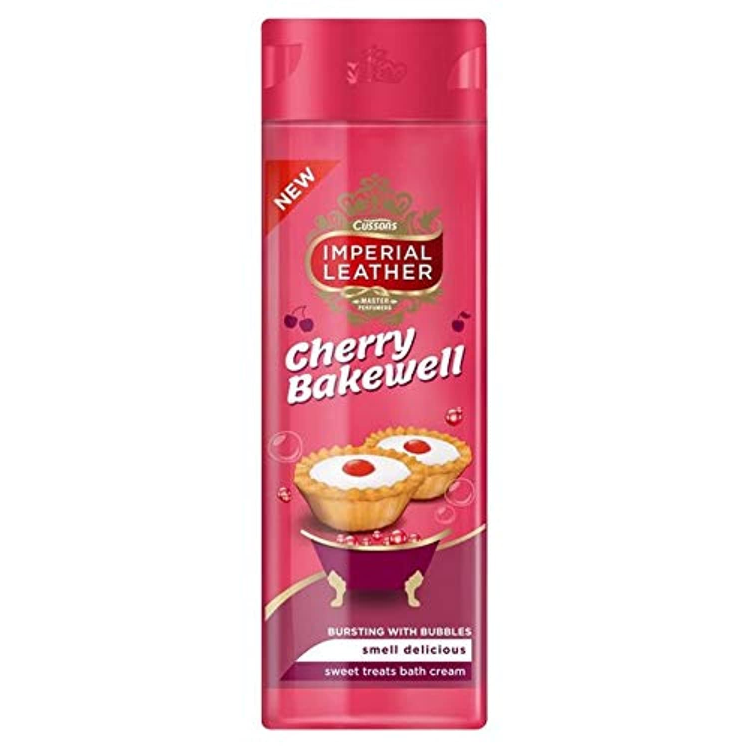 [Imperial Leather ] 帝国革の桜ベイクウェルのバス500ミリリットル - Imperial Leather Cherry Bakewell Bath 500ml [並行輸入品]