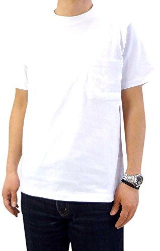 (グッドウェア) Goodwear USAコットン無地ポケットTシャツ ホワイト L)