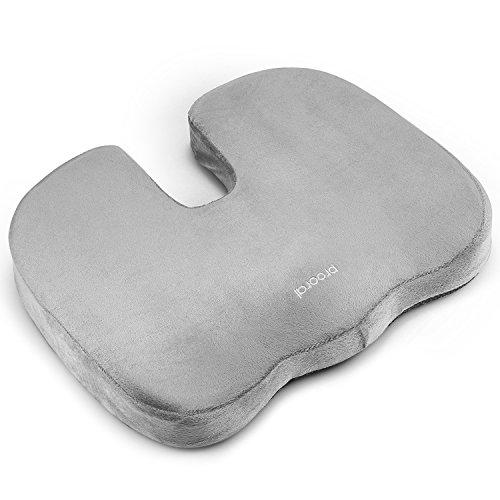 Prooral クッション 低反発 ヘルスケア座布団 姿勢矯正 独創的なU字型デザイン 腰痛対策 骨盤サポート 坐骨神経痛 美尻 健康クッション (グレー)。