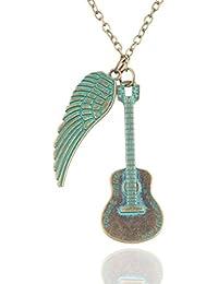BEE&BLUE ギター ペンダント ネックレス 翼 メンズ レディース 羽根 ペンダント シンプル チェーン ファッション ジュエリー ジュエリー アクセサリー