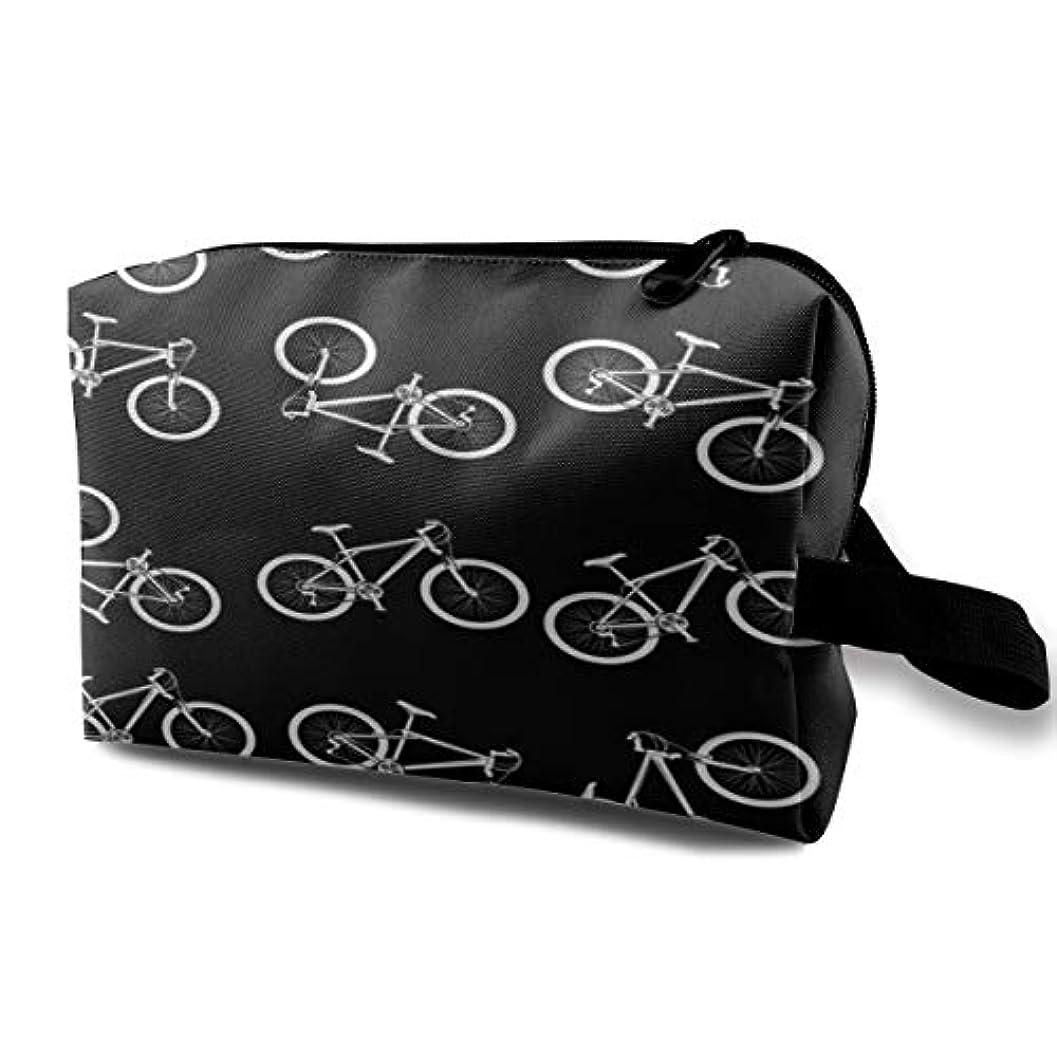 水素冗長デコードするWhite Sport Bicycle 収納ポーチ 化粧ポーチ 大容量 軽量 耐久性 ハンドル付持ち運び便利。入れ 自宅?出張?旅行?アウトドア撮影などに対応。メンズ レディース トラベルグッズ