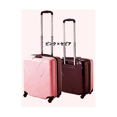 (ヒデオワカマツ)HIDEO WAKAMATSU マックスキャビン スーツケース 85-75280 (ピンク×セピア)