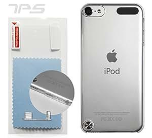 クリスタルカバー iPod touch 第5世代【amacore】ハードケース(クリア)《液晶保護フィルム+Lightningキャップ付》