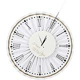 D DOLITY ペーパーファン 紙製 時計 パーティー 忘年会 新年お祝い 吊り下げ装飾 ラウンド