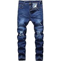 Fredd Marshall Big Boy's Skinny Fit Ripped Stretch Slim Jeans Pants