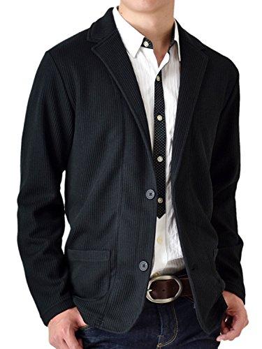 (アローナ)ARONA テーラードジャケット メンズ ジャケット シャドーストライプ /Y B41ブラックレギュラー丈 3L