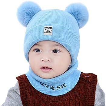 1904082a1ec3c7 Amazon | FATHER.SONベビーニット帽 ネックウォーマー 赤ちゃん 女の子 ...