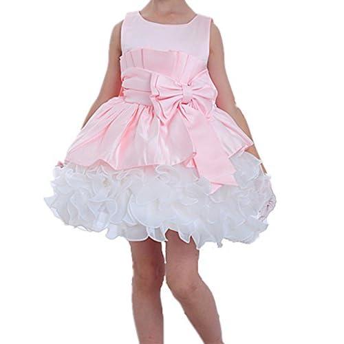 (ケイヨウ) JinYangガールズ フォーマル 腰に蝶結び付き プリンセス ウェディング ドレス ピンク 2T 【並行輸入品】