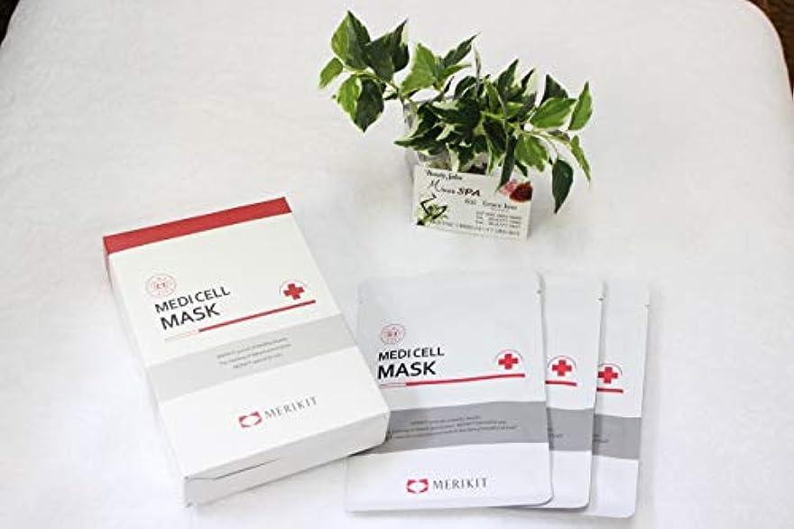 ノベルティアンカー採用[merikit]韓国製 エステサロン絶賛 medicell mask フェイスパック10枚