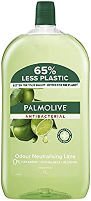 Palmolive Antibacterial Liquid Hand Wash Soap 1L, Odour Neutralising Lime Refill and Save, No Parabens Phthala