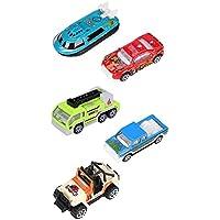 ITODA おもちゃの車 プレイセット おもちゃのパーティー用品 早期就学前教育 1:64 プッシュミニプレイギフトセット 男の子 女の子用 WANJU-CHE-000005-GYUS