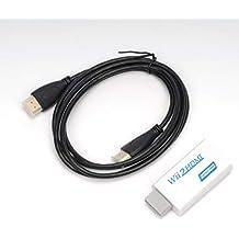 HDMIコンバーター WiitoHDMI変換アダプタ WiiをHDMI接続に変換 HDMIケーブル付属 + HDMIケーブル