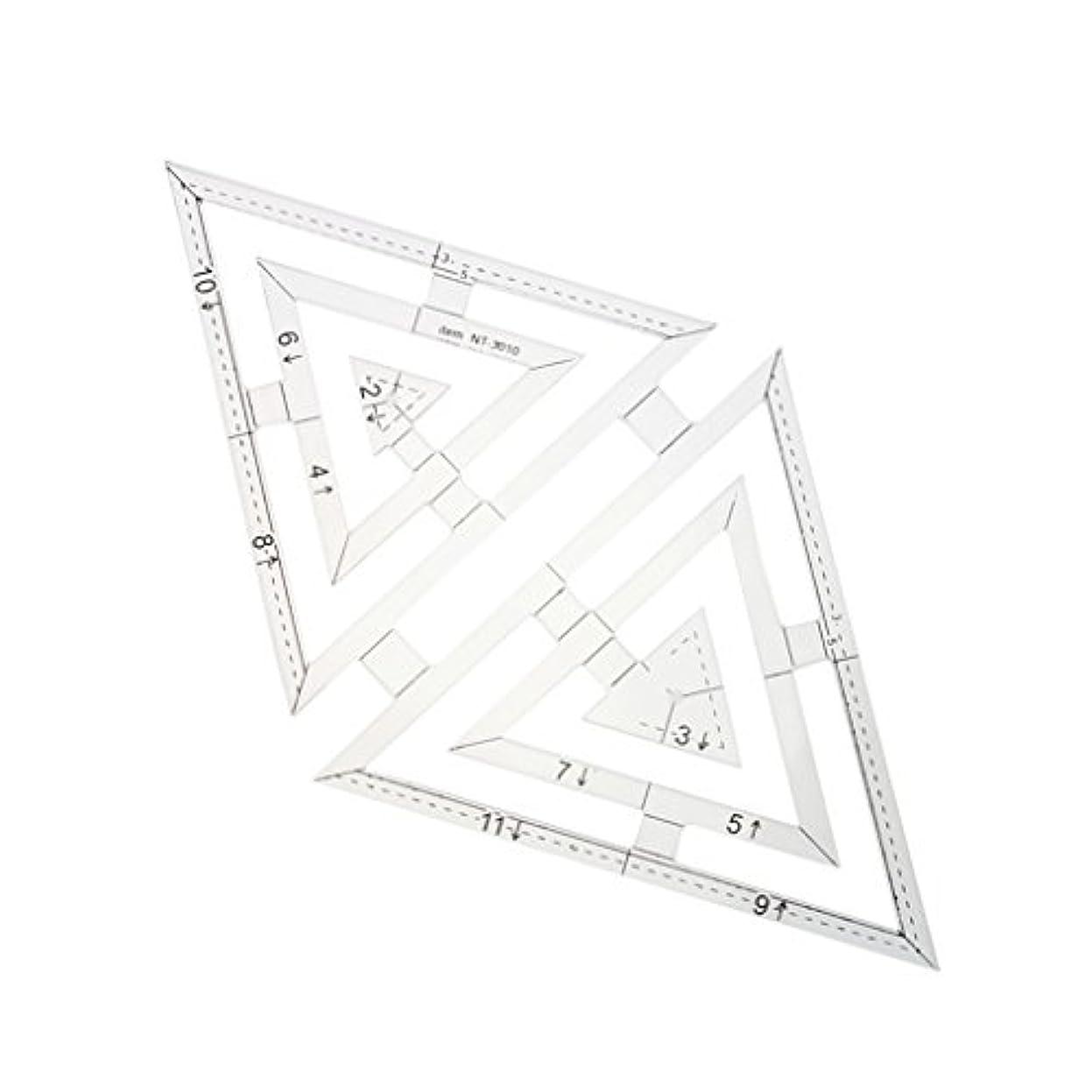 かかわらずサスペンド勘違いするアクリル テンプレート 描画ルーラー 定規 建築図面定規 DIY レザークラフトツール 透明 三角