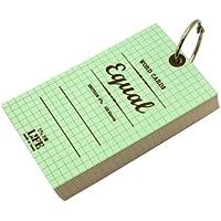 イコール 単語カード 5×3サイズ 方眼【ミントグリーン】 P317a